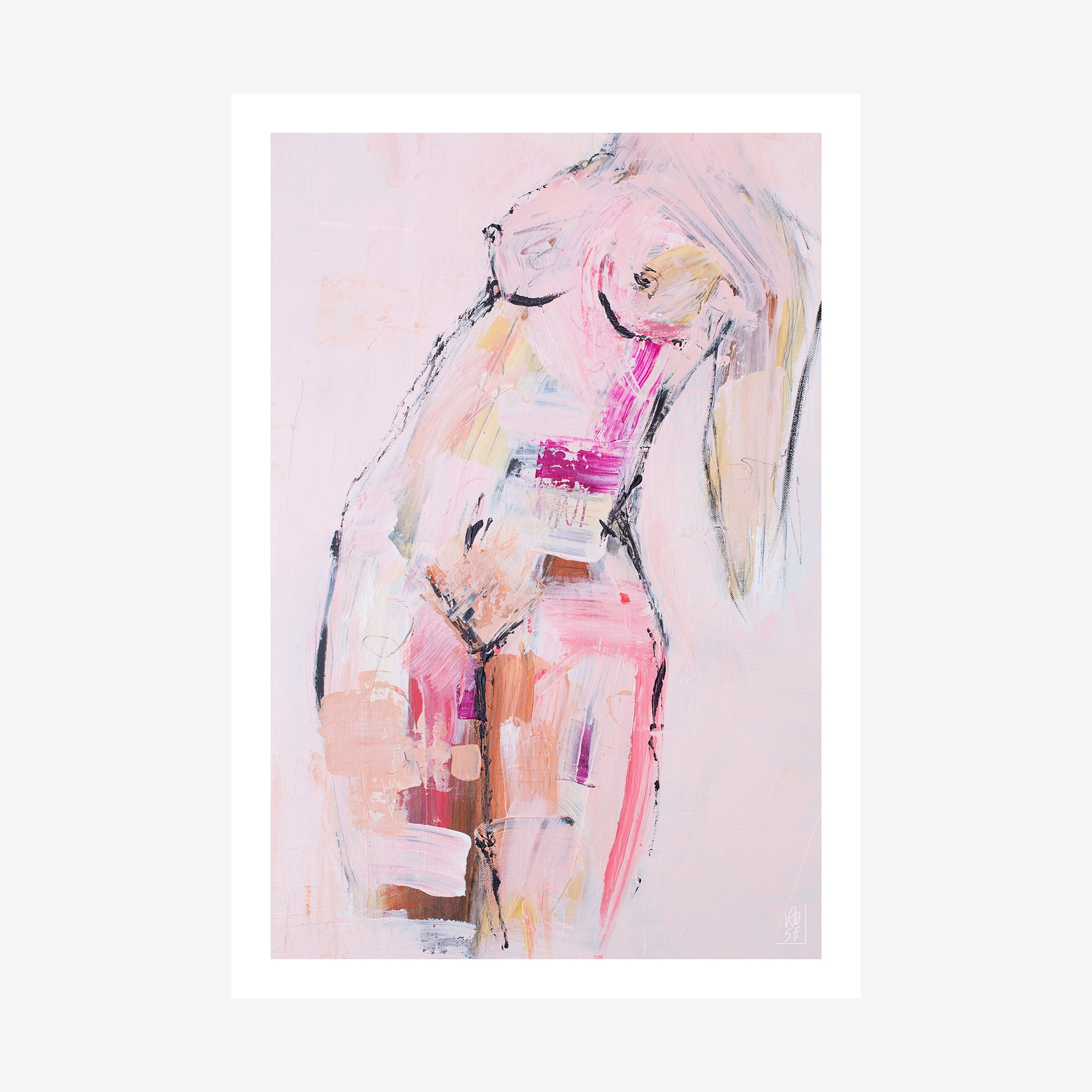 WILD WOMAN RISING - Fine Art Figure Print