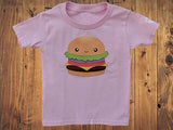 Hamburger/Cheeseburger Kids Tshirt - Bare It Designs Ltd.