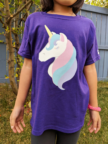 Unicorn Kids Tshirt - Bare It Designs Ltd.