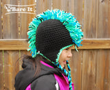 Punk Rocker Faux Mohawk Crochet Character Toque - Bare It Designs Ltd.