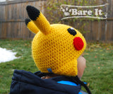 Pikachu Crochet Character Toque - Bare It Designs Ltd.