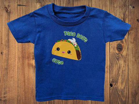 Taco About Cute Kids Tshirt - Bare It Designs Ltd.