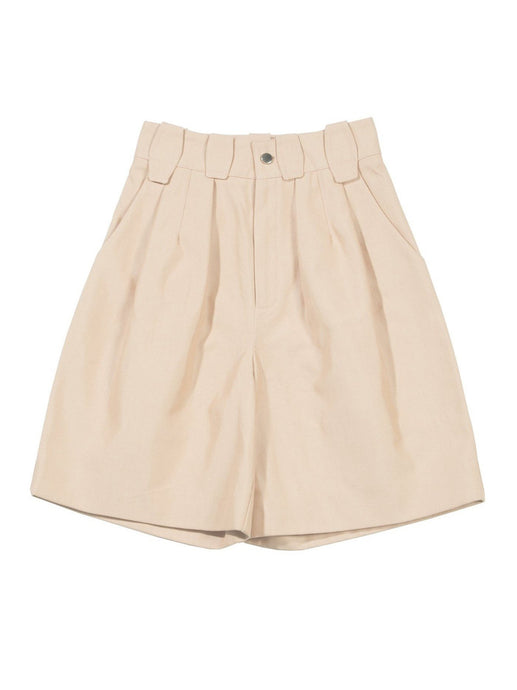 Pleated Shorts in Salmon