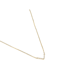 V Necklace in Solid 14k Gold