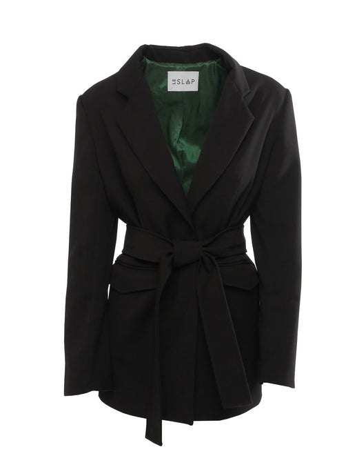 Le SLAP 1990 Black Tailoring Jacket with Belt in Black