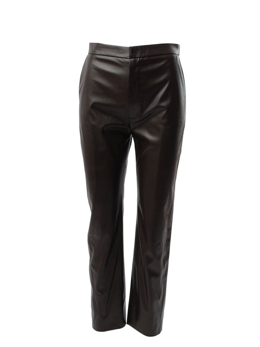 Le SLAP 1990 Vegan Leather Pants in Forest Brown
