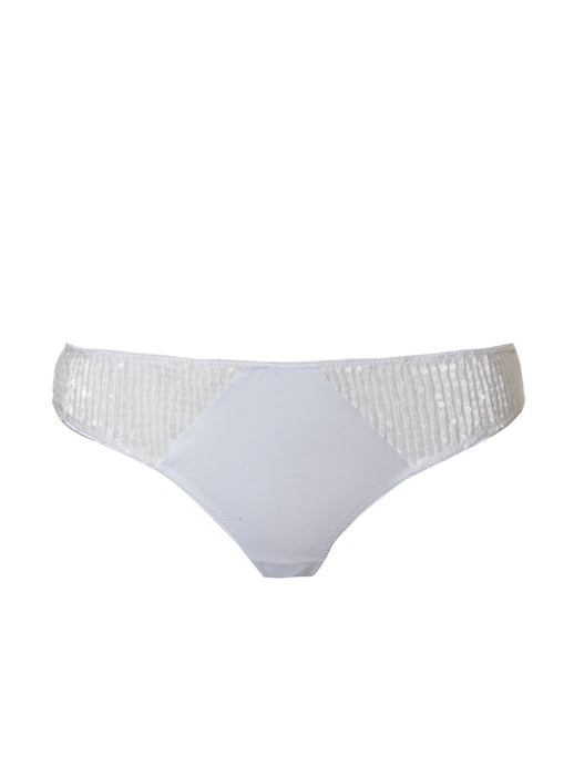 Sequins brazilian knickers White