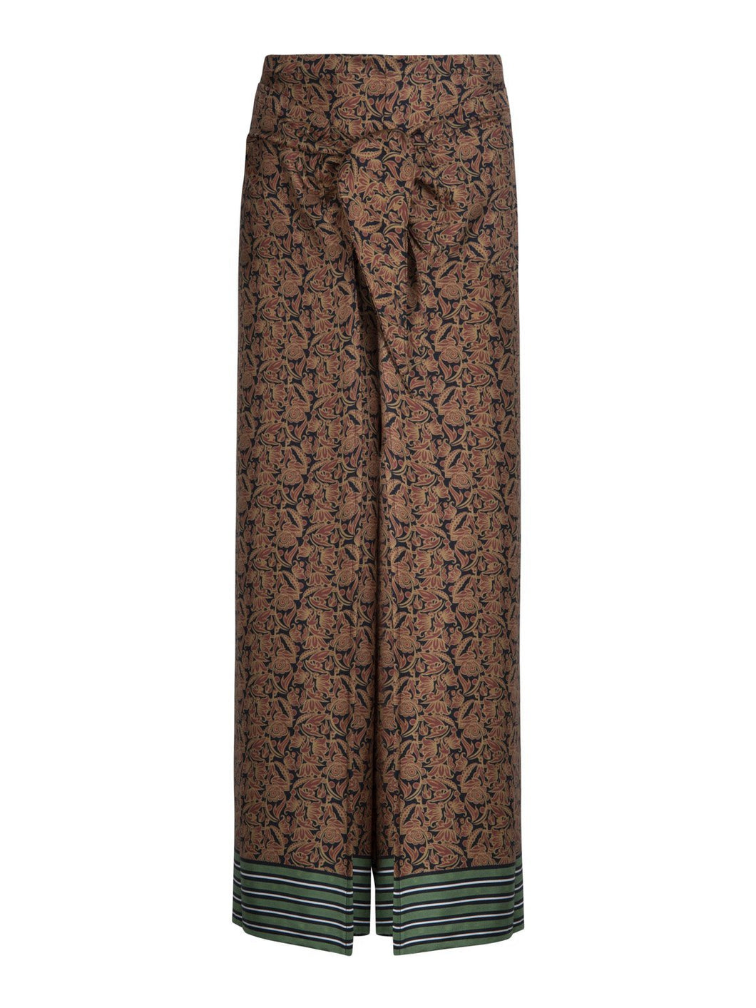 Fisherman Trousers in Flora Stripe