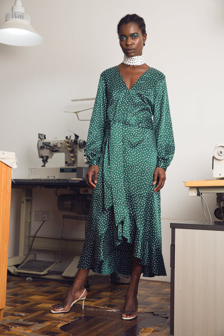 Leap Of Faith Dress Green