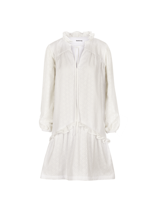 White Broderie Anglaise Prairie Dress (limited edition)