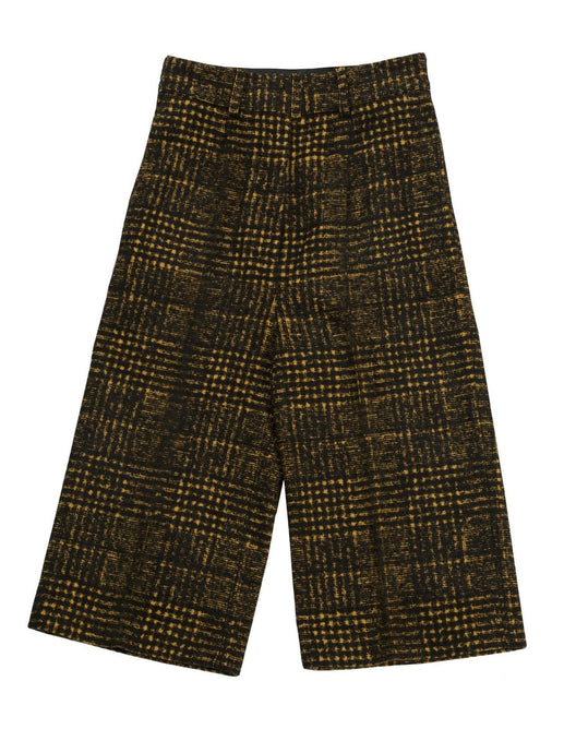 Grid Trousers in Black and Yellow