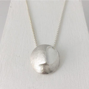 Abstract Round face necklace - Sterling Silver - LDC