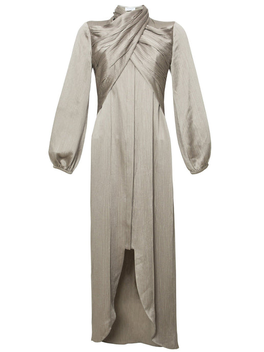 Tropism Maxi Dress in Champagne Gray