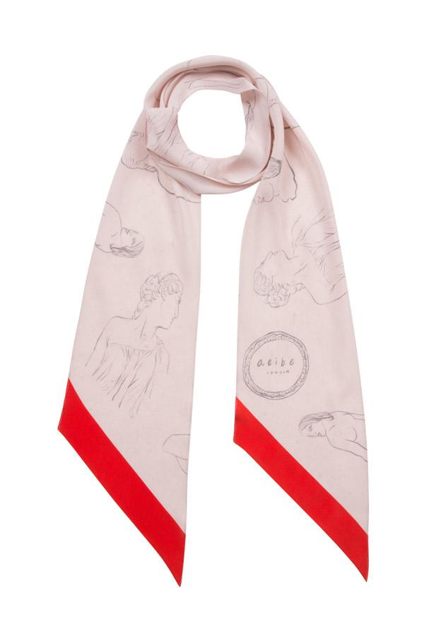 Museum silk scarf - Red