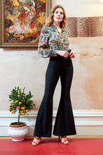 Cobie black shimmery flared trousers