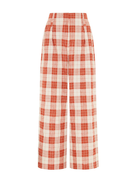Andy Culottes in Checked Orange