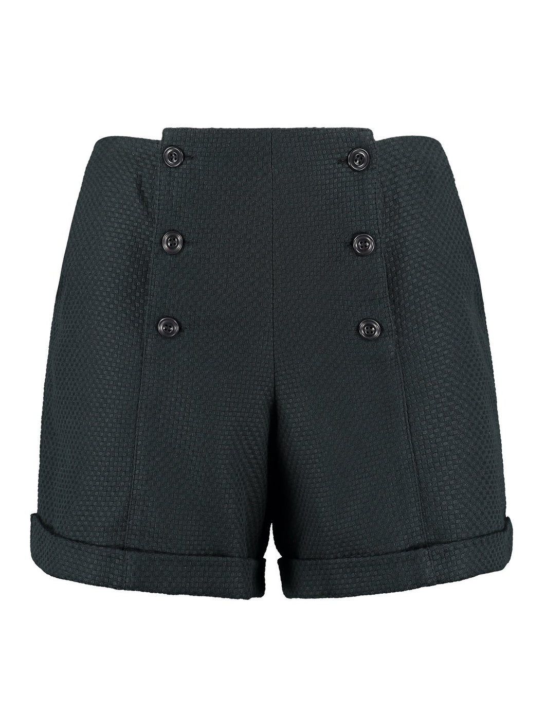 Tailored Shorts in Black Organic Cotton