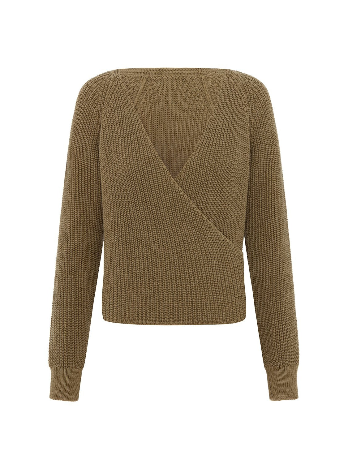 Sabinna Zoe Cotton Knitted Sweater in Olive - LDC