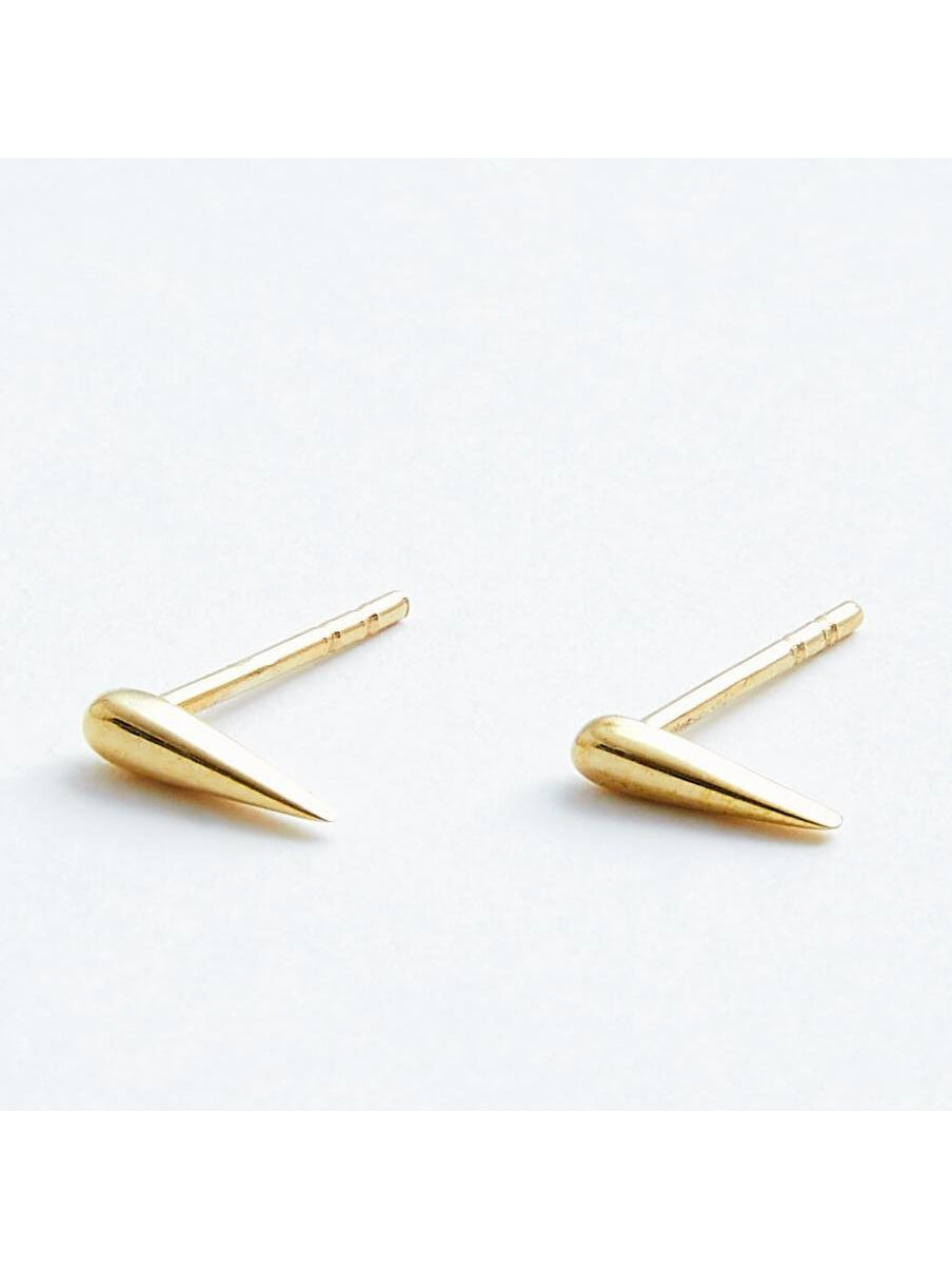 Spike Studs in Solid 14k Gold