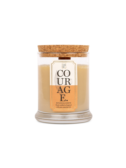 Courage Essential Oil Wooden Wick Candle