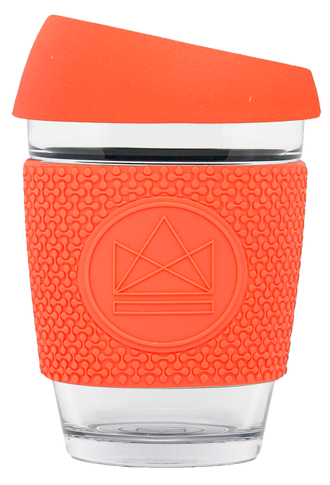 Neon Kactus Reusable Glass Coffee Cup - Dream Believer 12oz