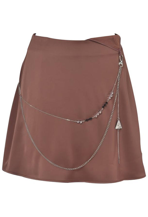 Mini Skirt with Jewellery in Red