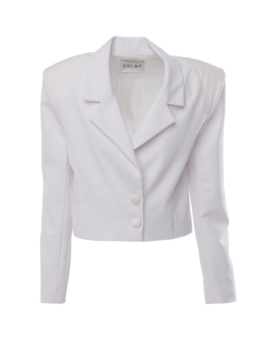 Le SLAP Empowered White Cut Fit Jacket