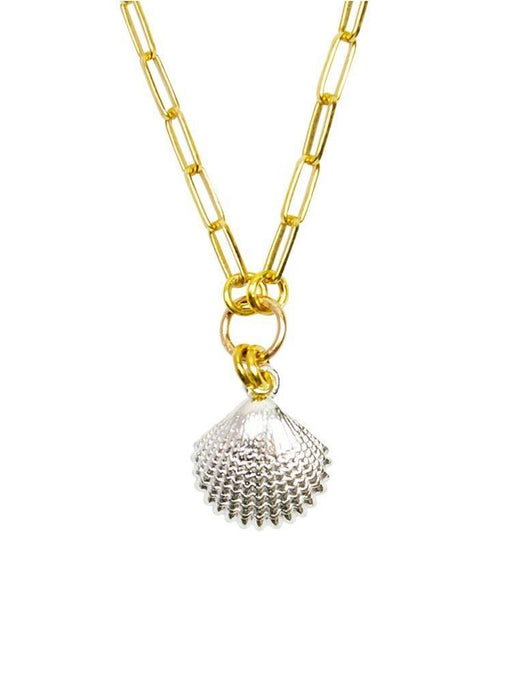 Emma Silver Shell Chain Necklace - In Gold
