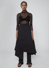 Black Asymmetrical Pleated Skirt