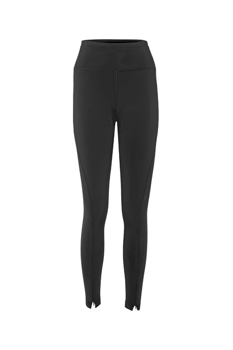 Asmuss Twisted Leggings with front zip in sustainable 4 way stretch fabric.  The best for hiking or running