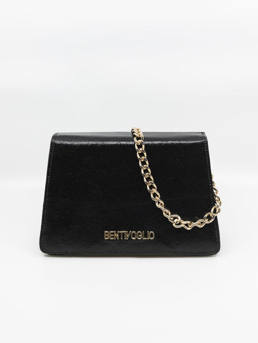 The Vegetal Ben Bag in Shiny Black
