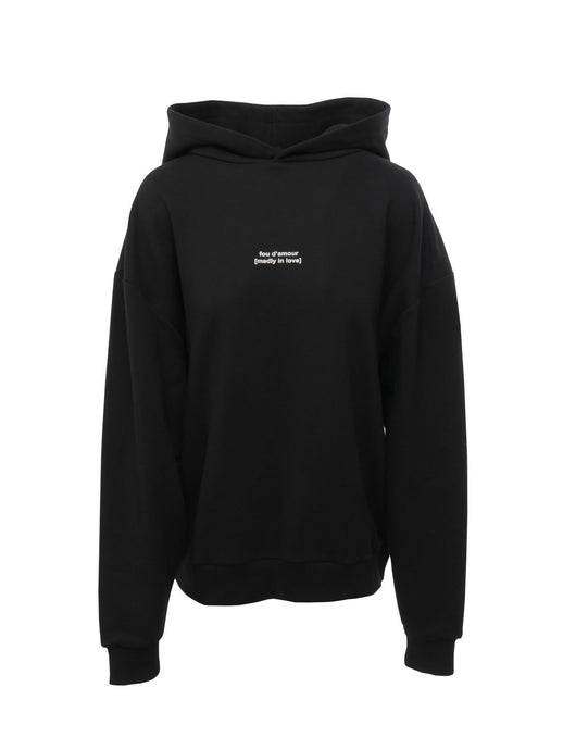 Le SLAP French Series Love Unisex Oversize Hoodie in Black