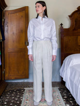 FFilanda n.18 Cotton White Shirt with latches on sleeves.