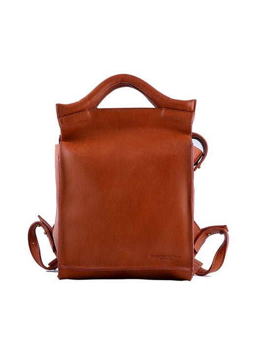 vegetable tanned leather designer backpack