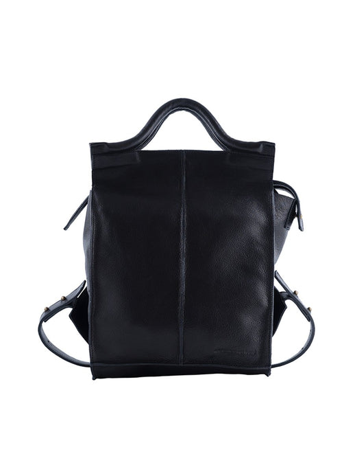 Urban and modern vegetable tanned leather backpack
