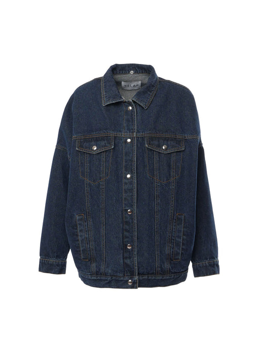 Le SLAP Genes 2 Oversize Denim Jacket in Dark Indigo