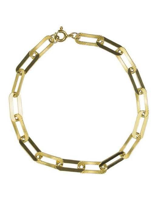 George Long Link Bracelet in Gold or Silver