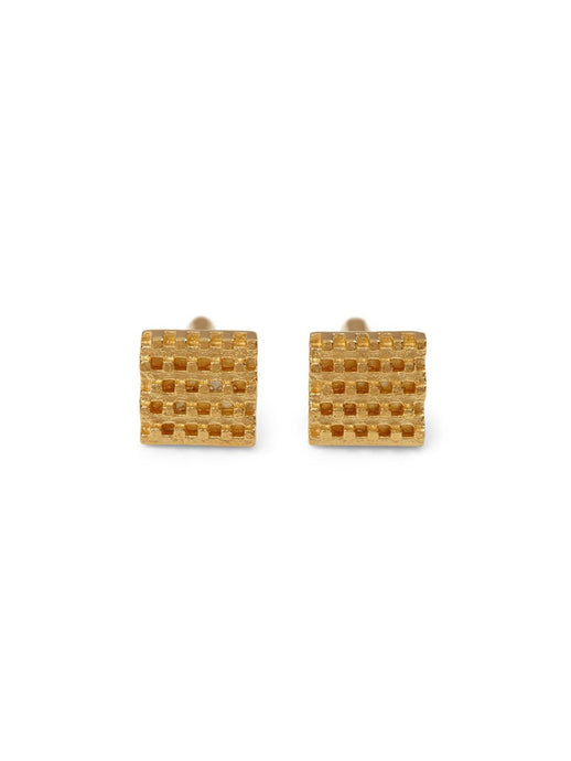 Hive Cufflinks in 18ct Gold Vermeil