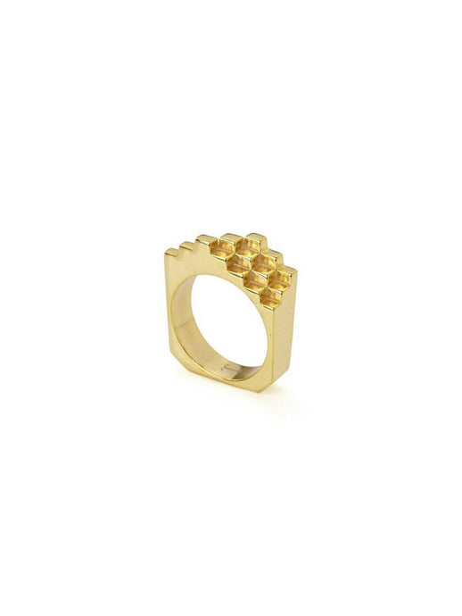 Hive Ring in 18ct Gold Vermeil
