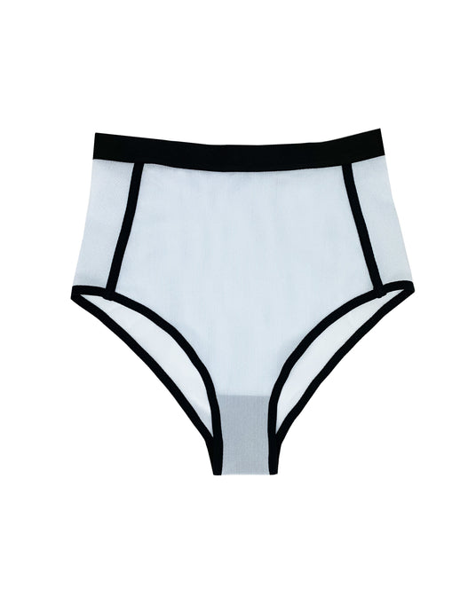 high waist light blue underwear