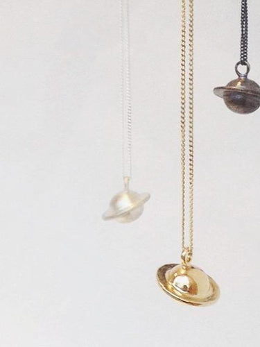 Mini Saturn Necklaces