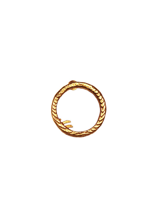 cj single hoop gold plated