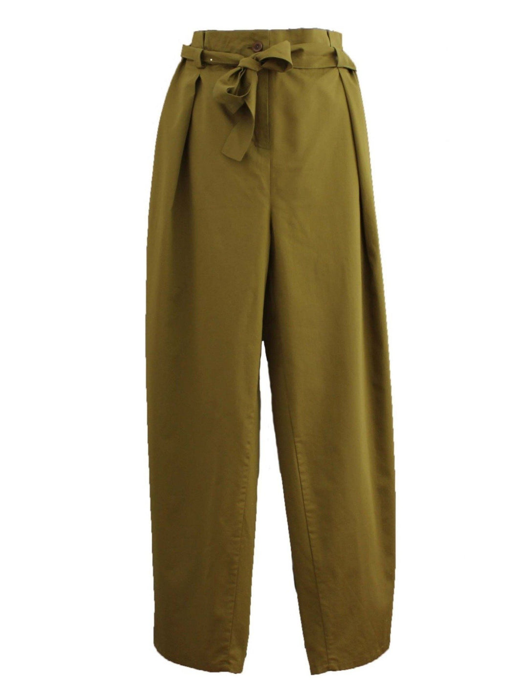 High Waist Khaki Trousers - LDC