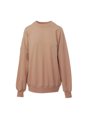 Le SLAP Lifetime nude oversize sweater with logo