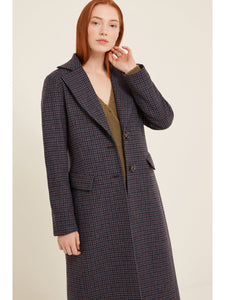 Rosalie coat in navy blue