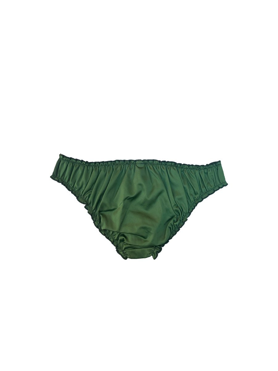 Wild Green Satin Lover Knickers