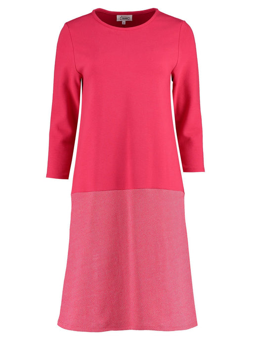 Imdividual organic cotton jersey dress red magenta made in London UK