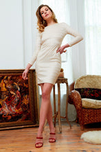 Morena Long Sleeve Lace Backless Mini Dress Ivory