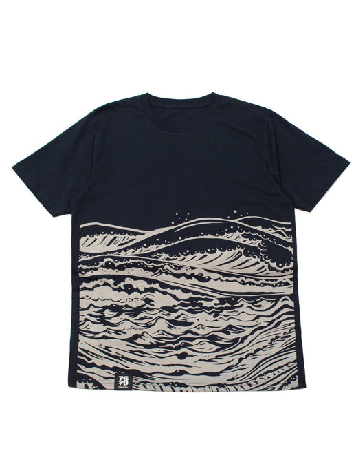 Organic Manga Cotton Tee - MotherSea in Navy