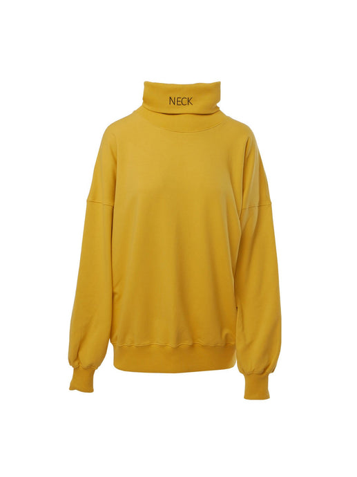 Neck Unisex Turtleneck Sweater in Mustard